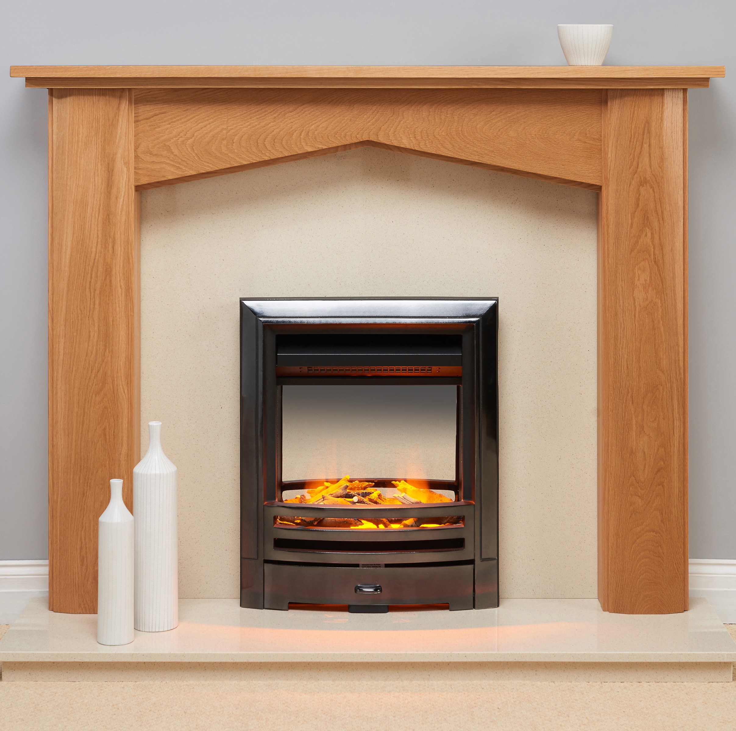 Fairways Anfield Solid Oak Fire Surround