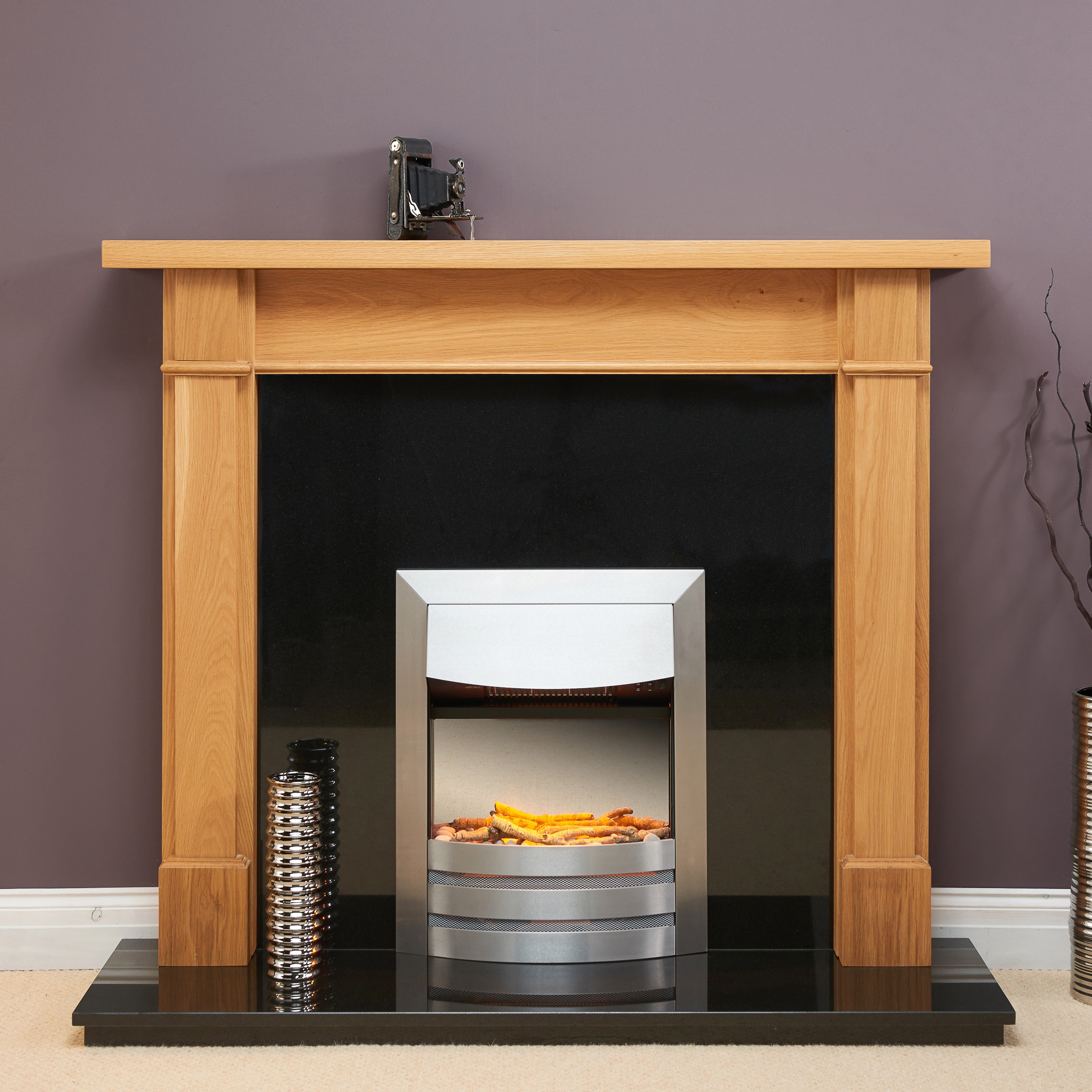 Fairways Warwick Solid Oak Fire Surround
