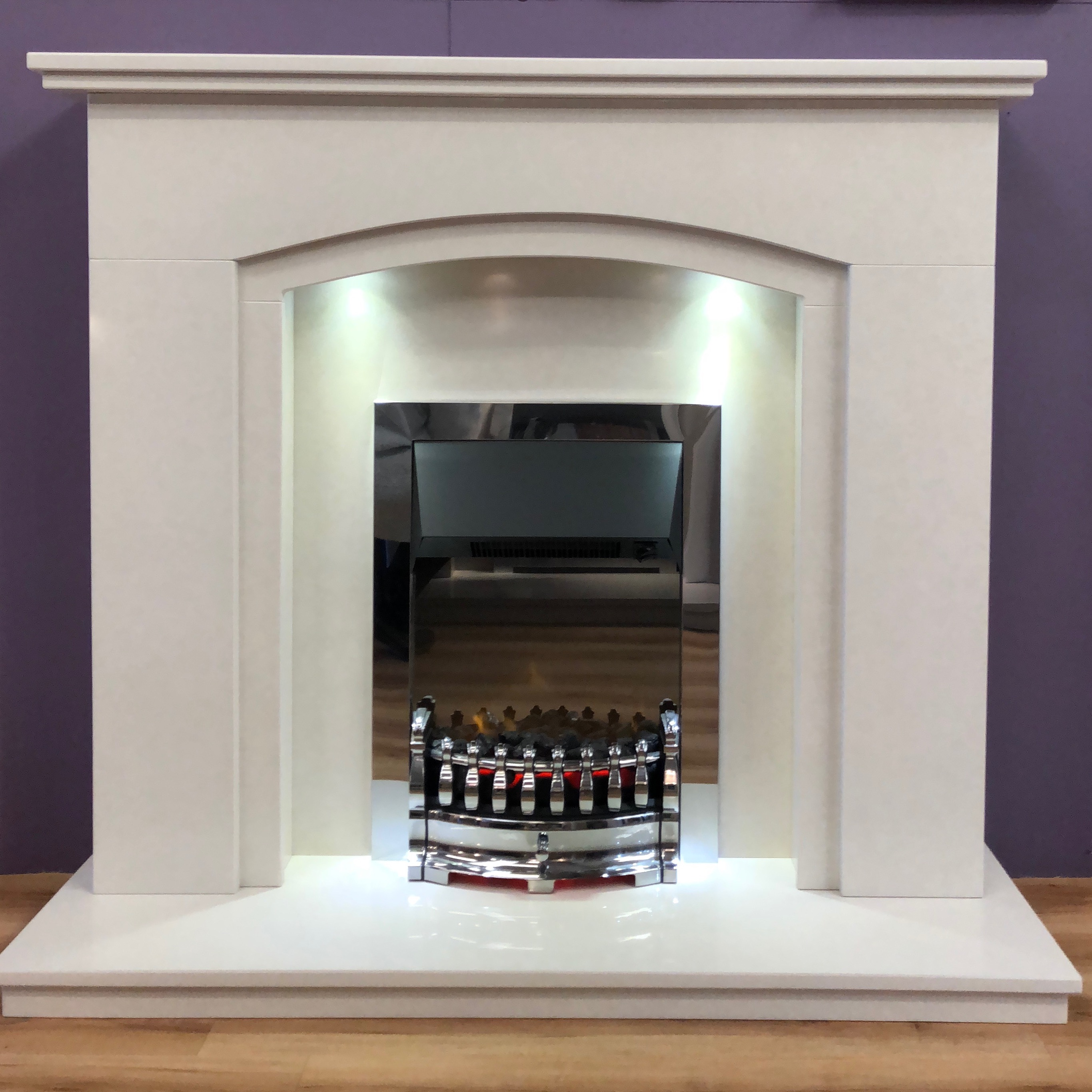 Dodford special offer marble gas electric fireplace package