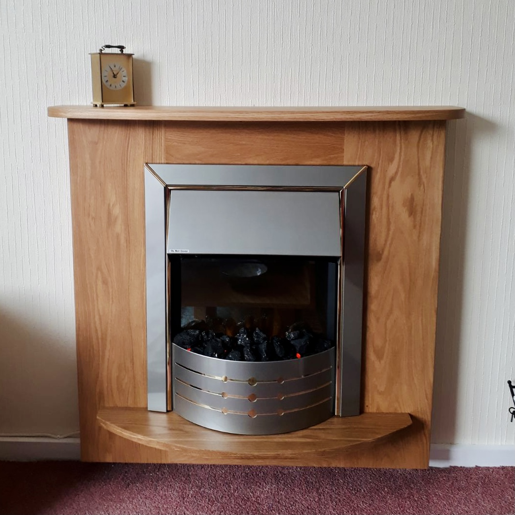 Wall Mounted Solid Oak