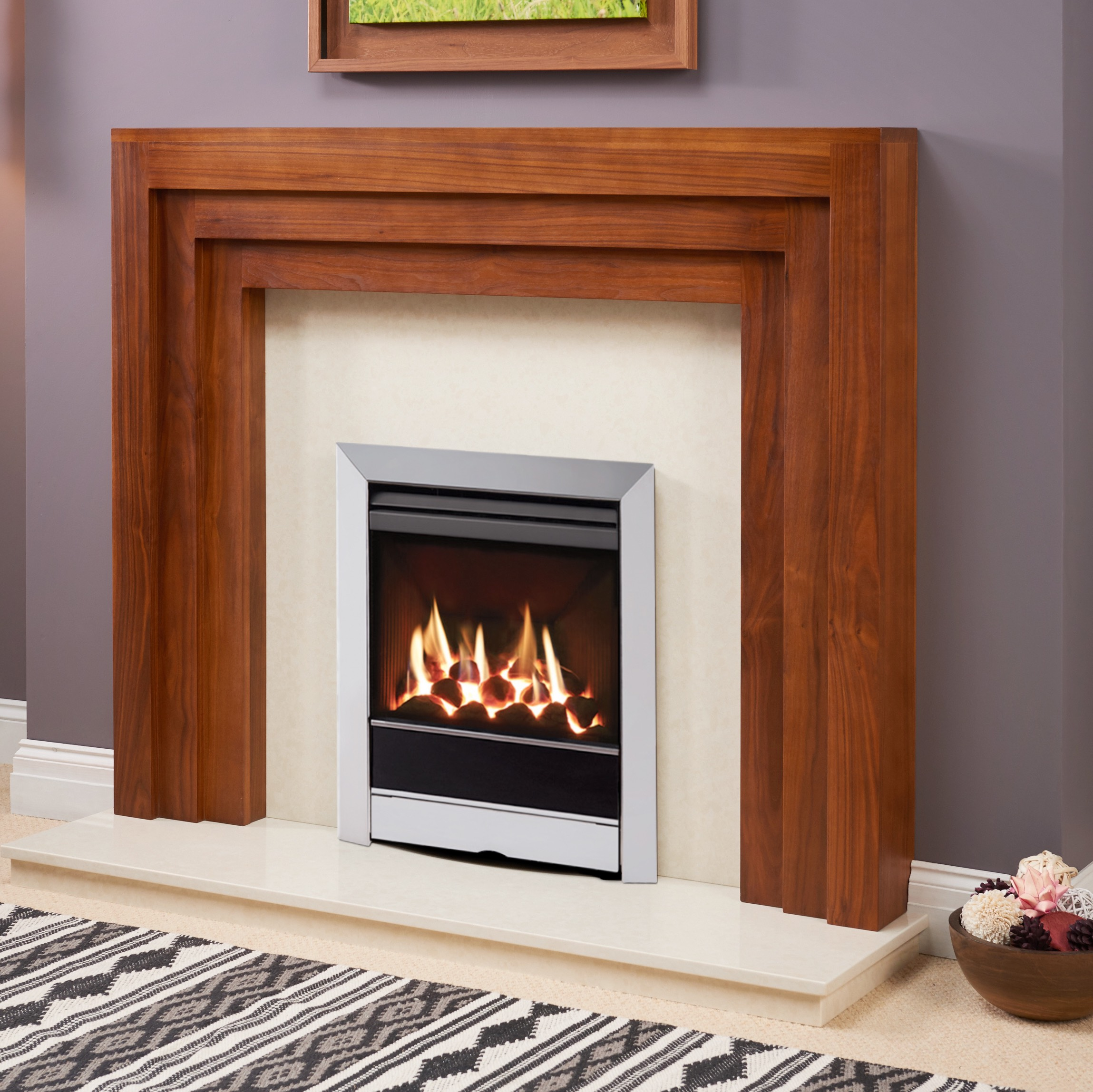 Fairways Elland Solid Oak Fire Surround