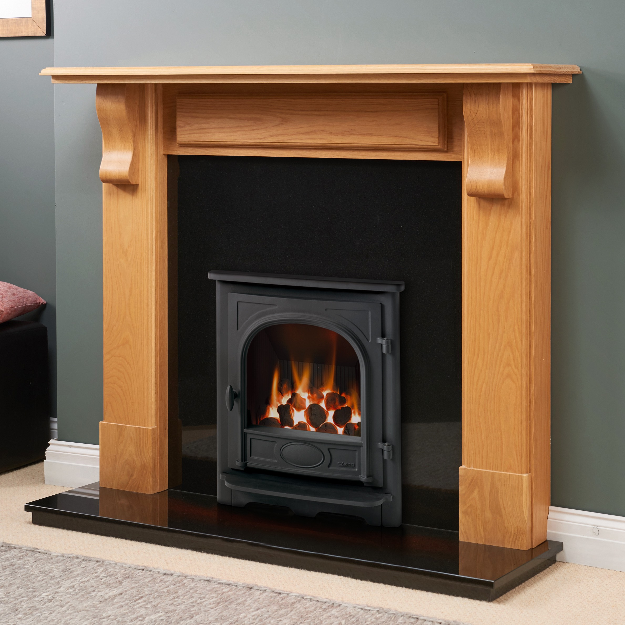 Fairways Goodrich Solid Oak Fire Surround
