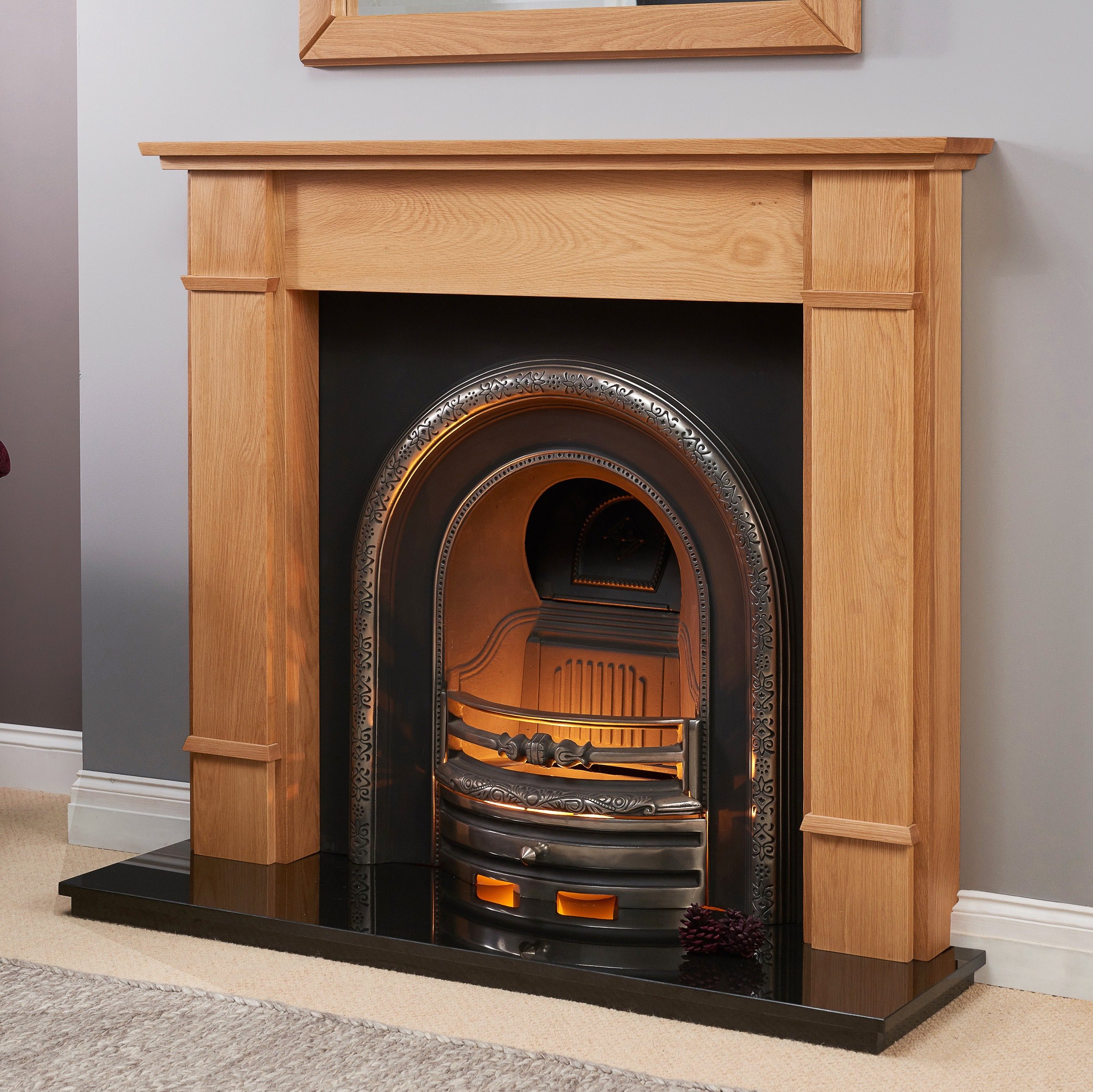 Fairways Hagley Solid Oak Fire Surround
