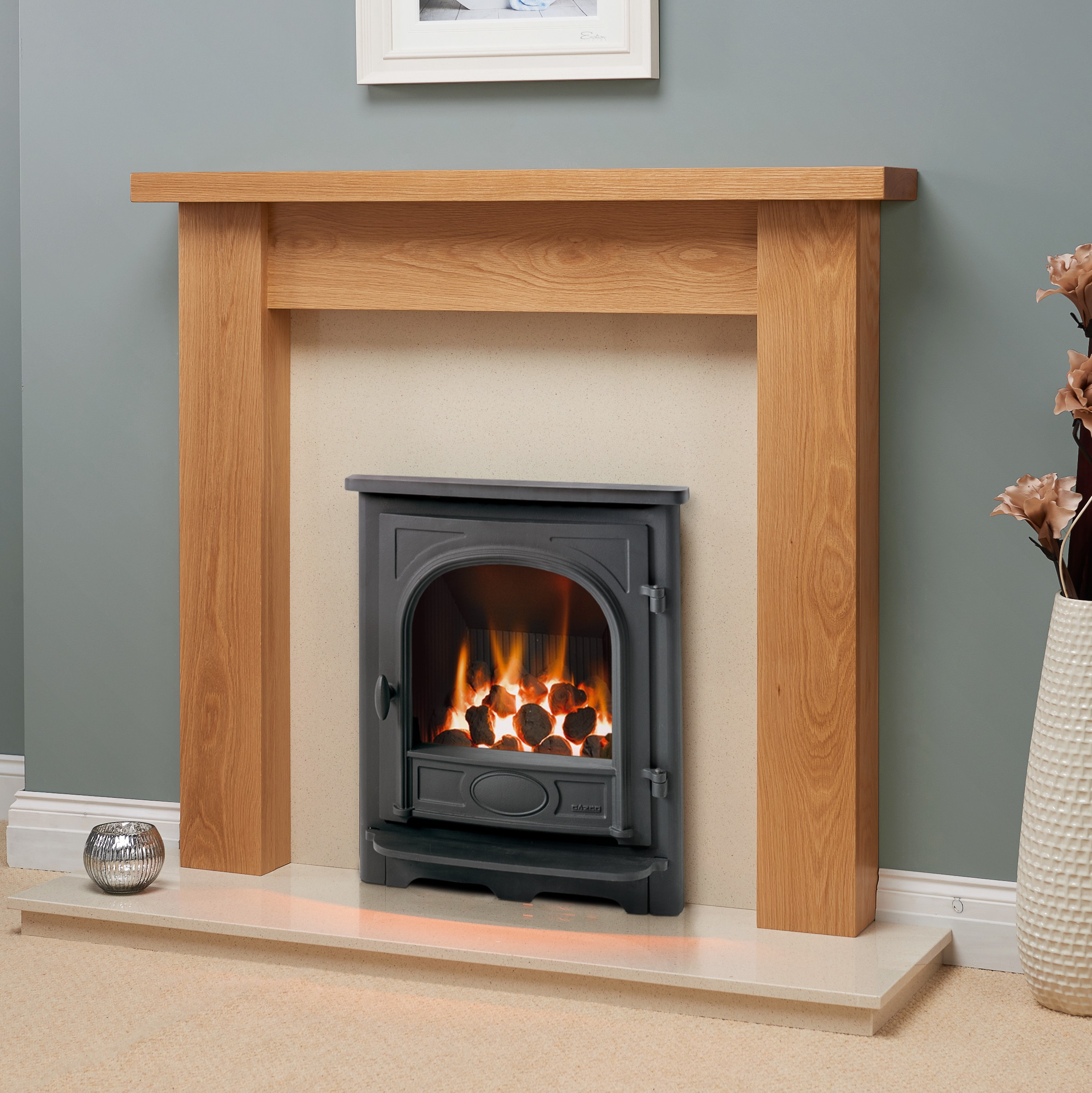 Fairways Hawthorn Solid Oak Fire Surround
