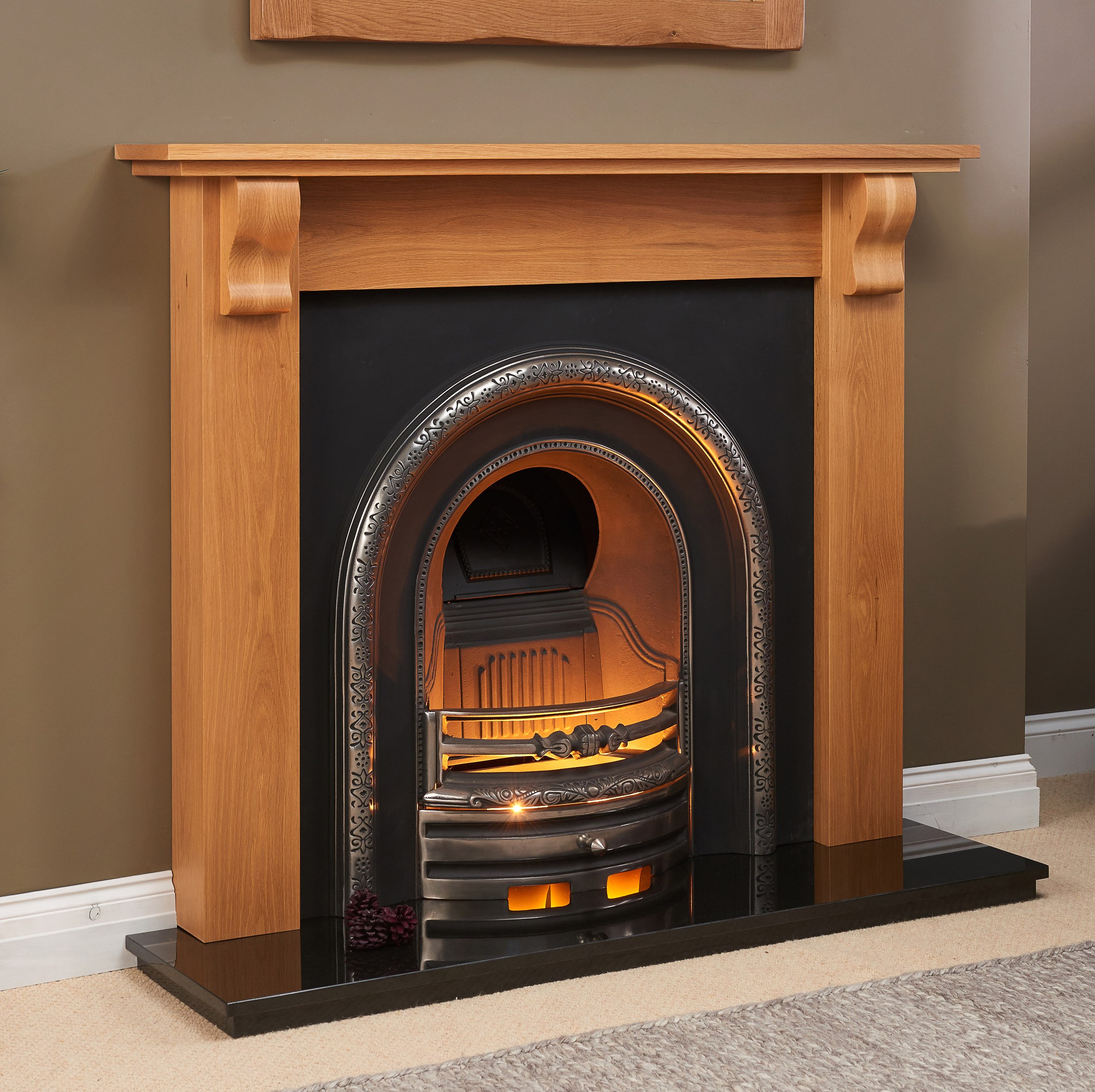 Fairways Jupiter Solid Oak Fire Surround