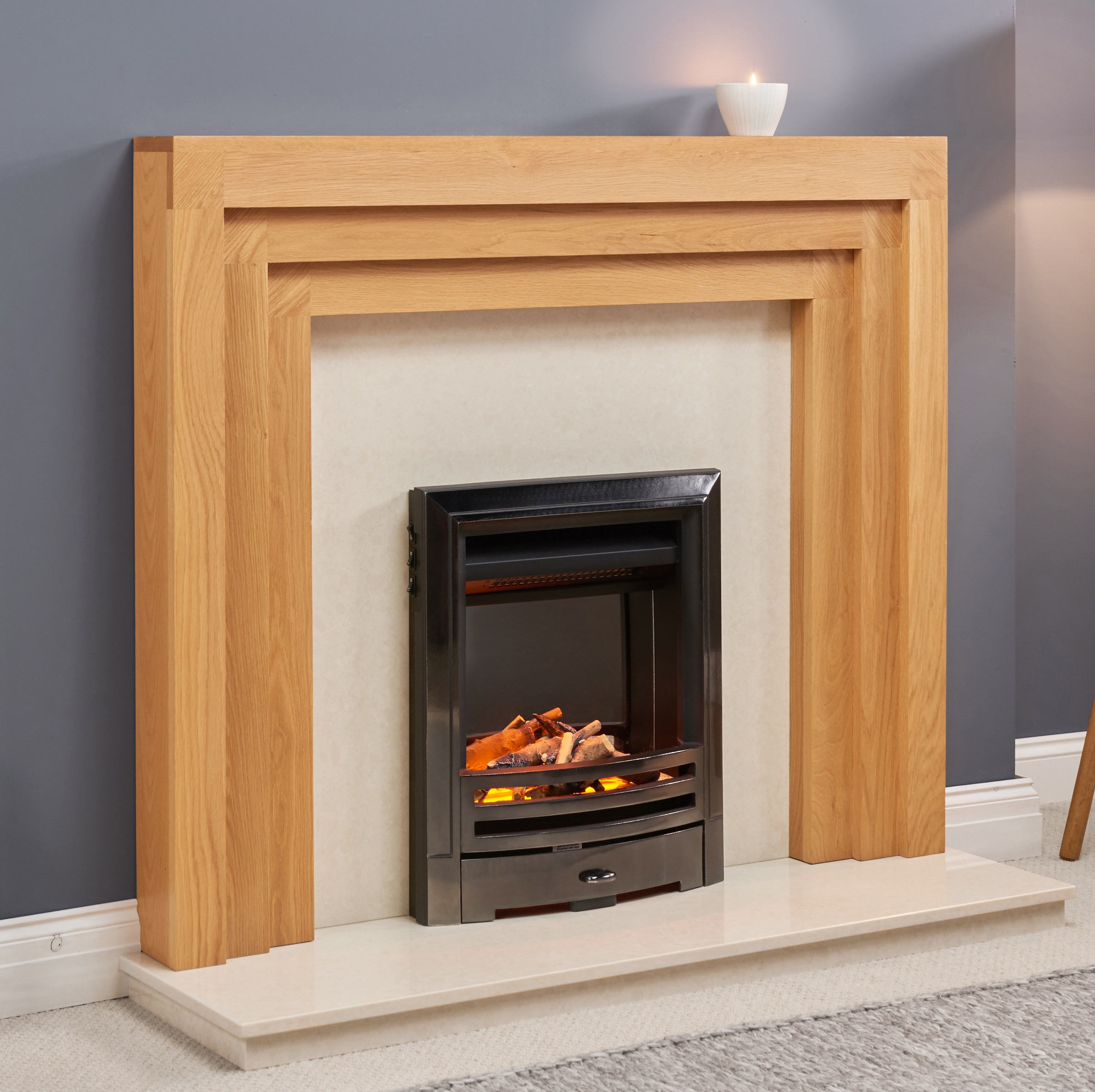 Fairways Milan Solid Oak Fire Surround