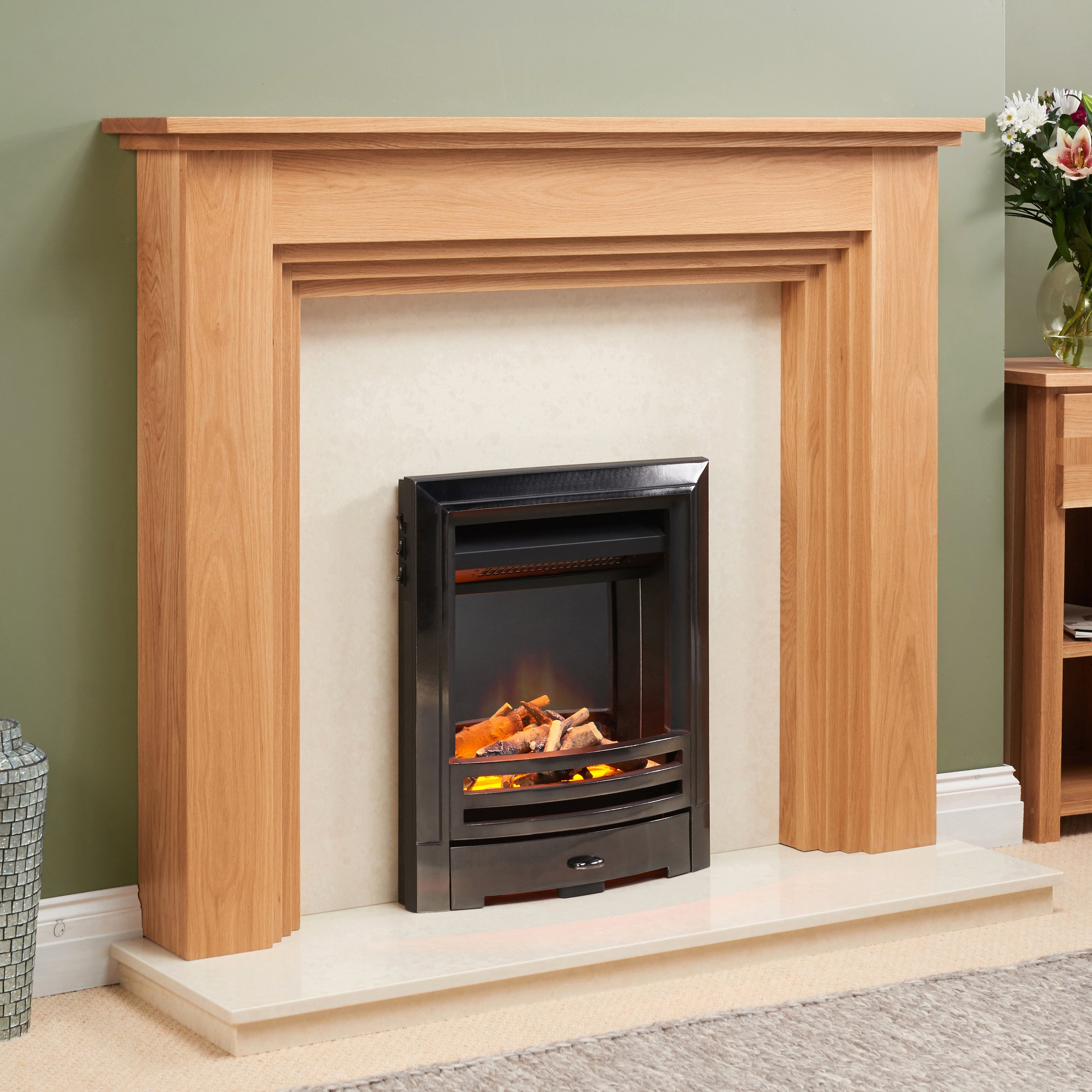 Fairways Roma Solid Oak Fire Surround